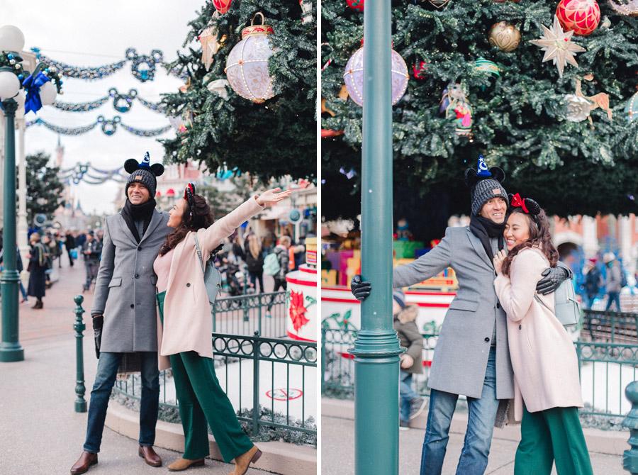 Chen Sands Photographer Paris Disneyland in Winter Engagement Session - dyptich 1.jpg