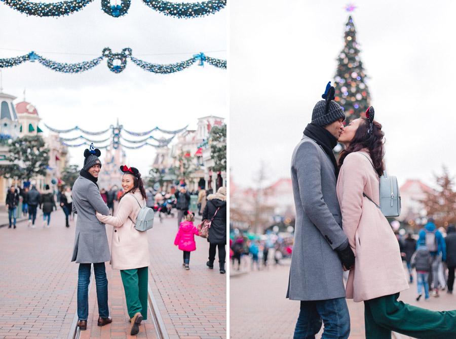 Chen Sands Photographer Paris Disneyland in Winter Engagement Session - dyptich 3.jpg