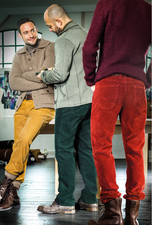 That's how to wear a cord!   Gardeur cords in regular or slim fit.   Slim fit Benny style in stock £110