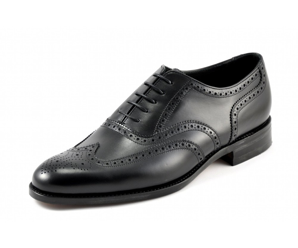 Bailey  -       £185.00         Brogue shoe, constructed using calf leather uppers, featuring the Evolution construction for greater comfort, Made in England.         -  Goodyear Welted Evolution Leather Sole    -  Fully Leather Lined    -  Leather Insoles    -  Last Chancery / G Fitting