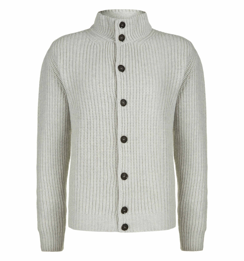 Hackett stitch cardigan, wool and cashmere blend made in Italy.   92% WOOL, 8% CASHMERE ~ Essentials   £220