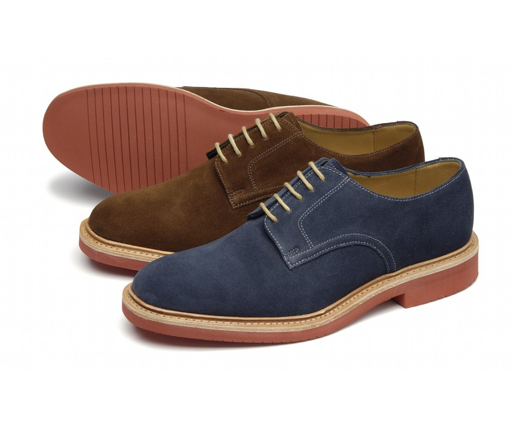 Morrison  -   £150.00      Plain suede derby, featuring an EVA welted sole, made in England.