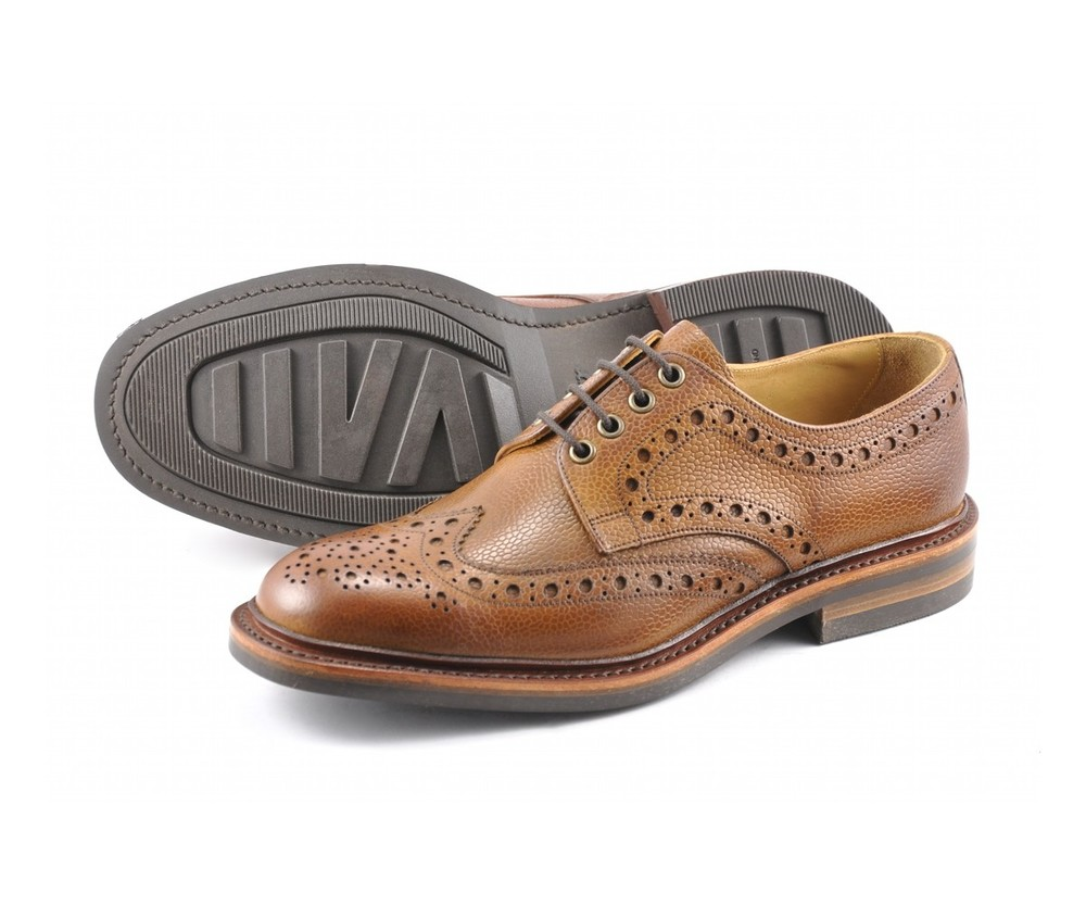 The AW12 Loake Otterburn.      Premium brogue derby shoe, featuring a rubber 'Victory' sole made in England.        £195 a pair, which will probably work out around £10 a year over its life!!