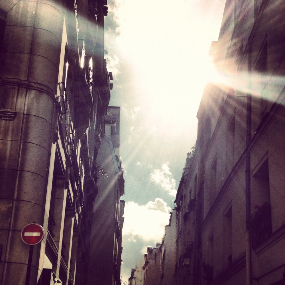 Sunshine through French streets…