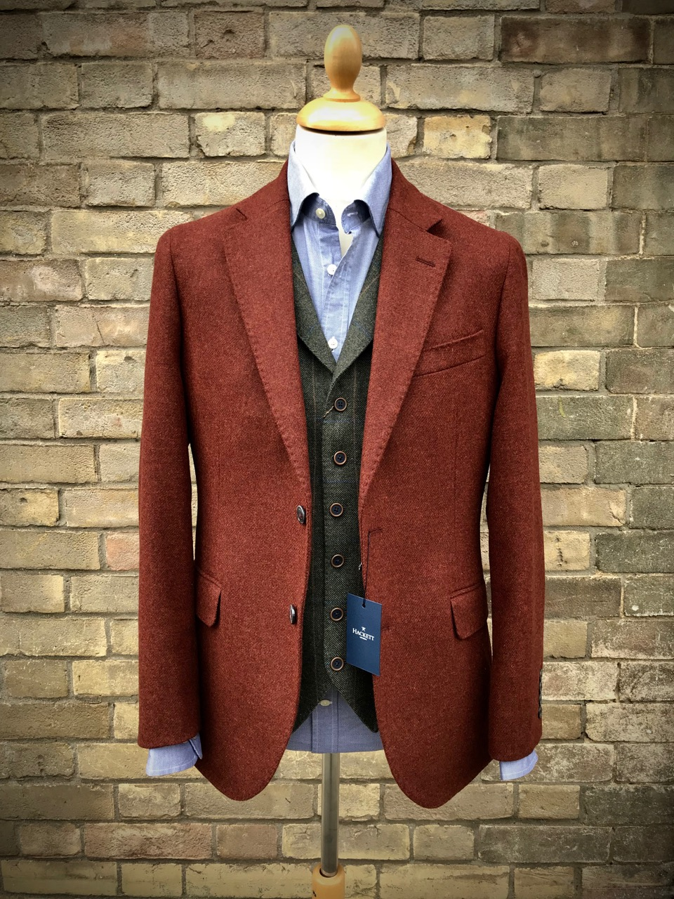 Hackett Jacket, MaGee Waistcoat and Hackett Shirt.