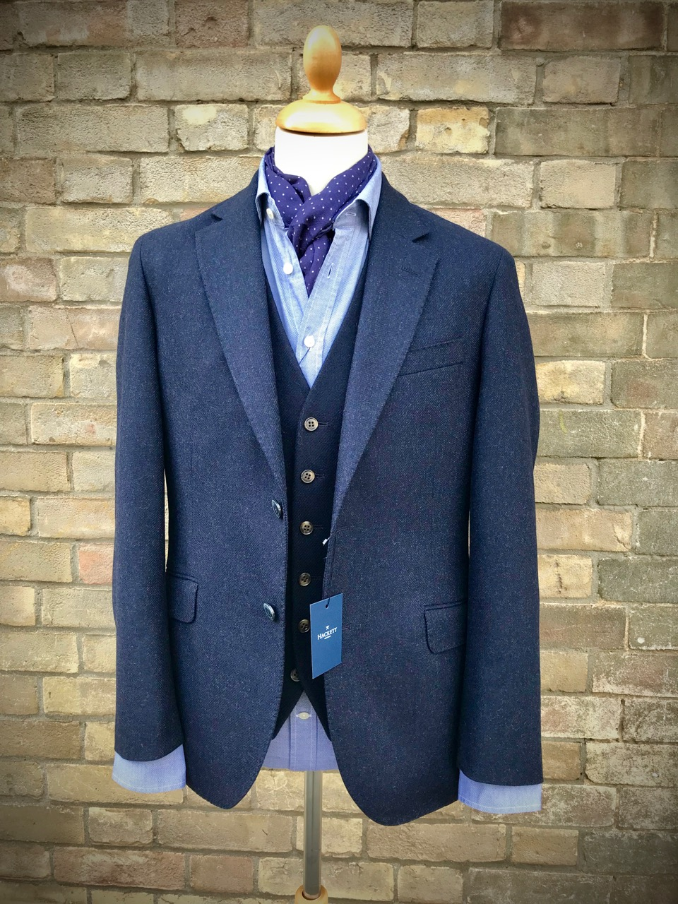 Hackett Jacket, Thomas Oliver waistcoat, Hackett shirt and scarf.