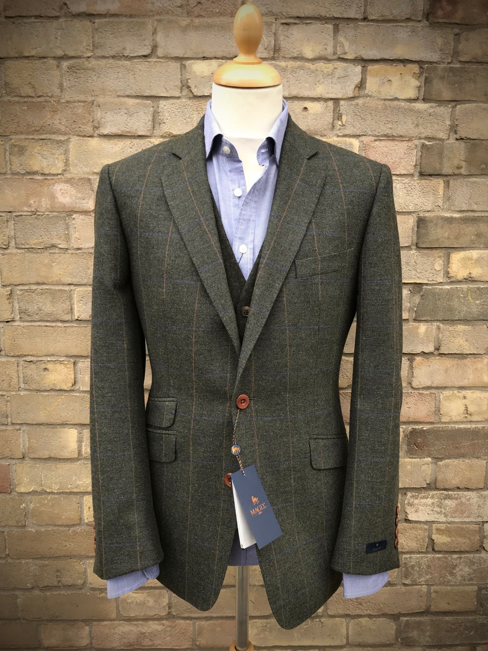 MaGee jacket, Thomas Oliver waistcoat and Hackett shirt.
