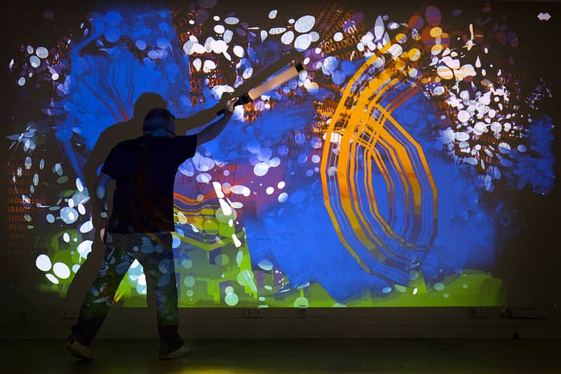 Loplite  2016   Digitalarti's   Loplite  lit up Hounslow's Bell Square with interactive drawings that magically sprang to life.   READ MORE