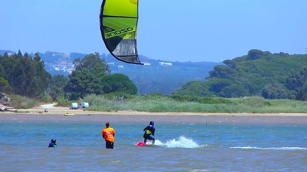 Group kitesurfing lessons portugal