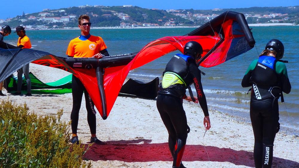 Group kitesurf lessons portugal