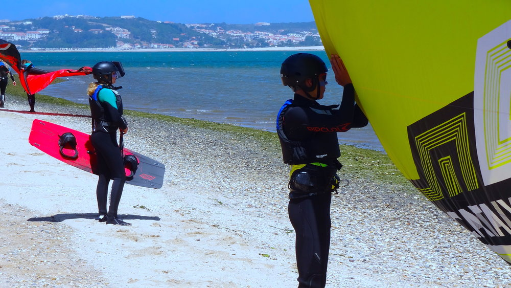 Copy of Group kitesurf lessons portugal