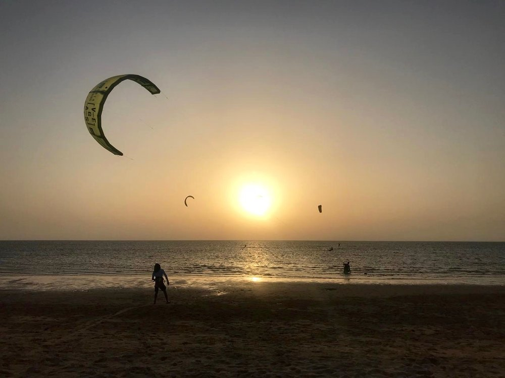 Kitesurf sunset Dakhla.jpg