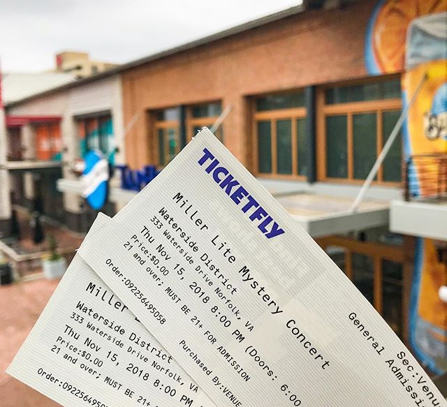 Who's excited about the Miller Lite Mystery Concert at Waterside District this Thursday night? I've got just a couple tickets left to giveaway, so if you don't want FOMO during this awesome show, better text or comment below ASAP. _________________________________________ There's just one catch, we're not announcing the national act until they take the stage 8 PM…
