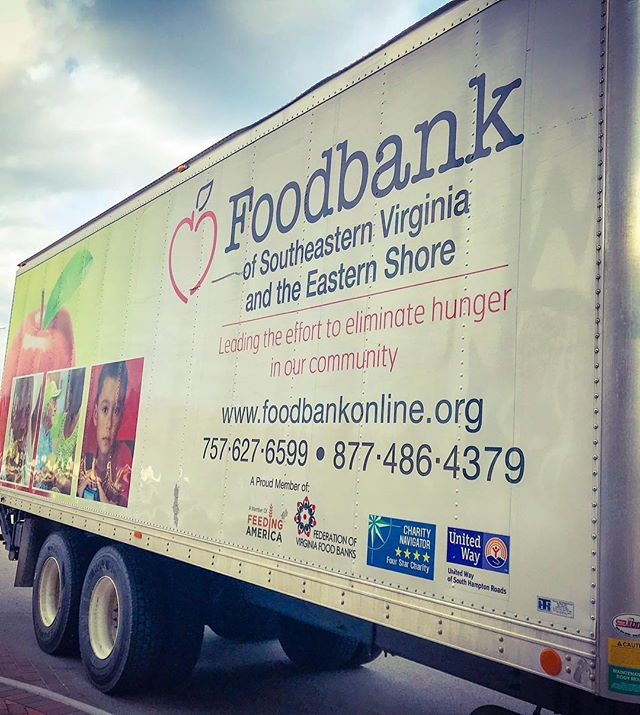 Making a holiday donation to @foodbankseva - perfect time of year when the need is greatest to our community #norfolkva #hrva