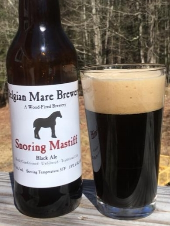 NEW! SNORING MASTIFF is a traditional stout. Black as night with roasted grain character.