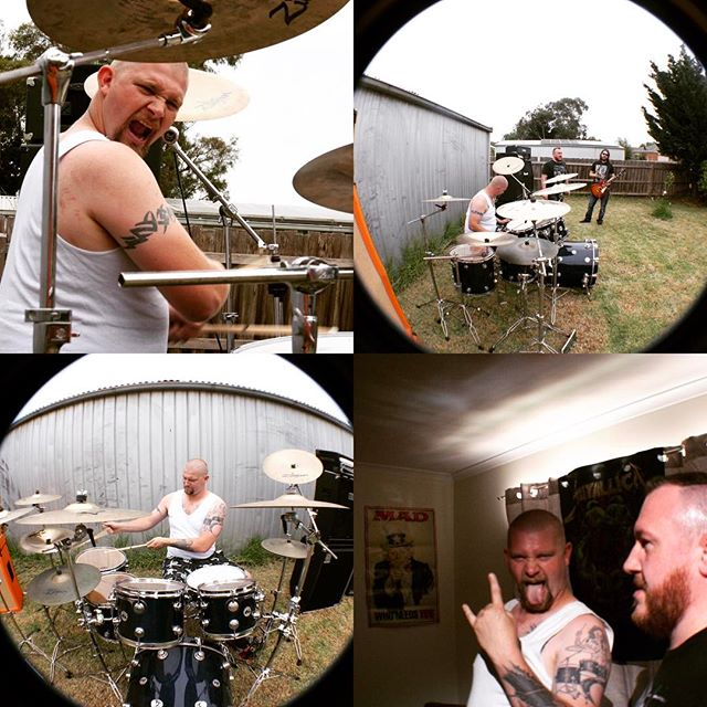 Chris doing his thing at the filming of our new video clip #stateofaffairs #supermonkeyzero #simplesky #videoclip #dw #dwdrums