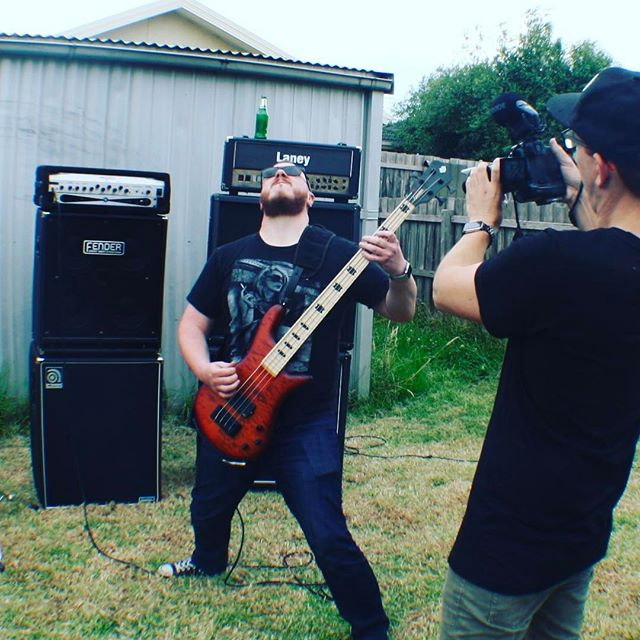 Matt @tuccaz81 doing some solo shots for our new video clip 😲 #spectorbass #melbournemusic #videoclip #googleplaymusic #itunes #spotify #supermonkeyzero #stateofaffairs #simplesky
