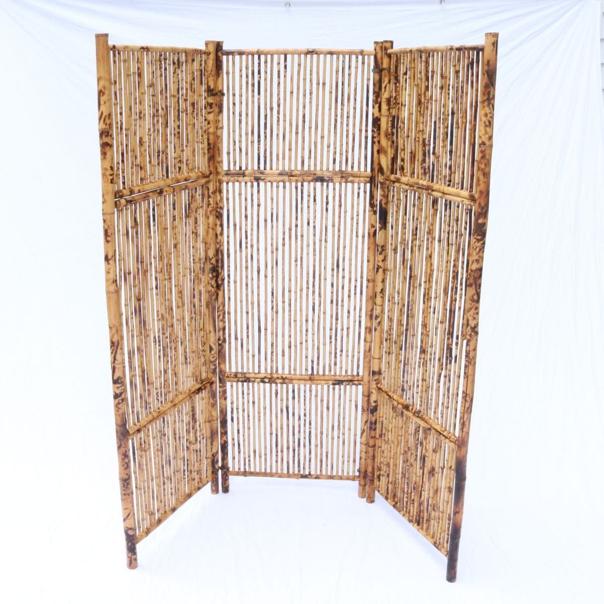 Antique Vintage Bamboo Screen Room Divider Rattan Great Patina Lee