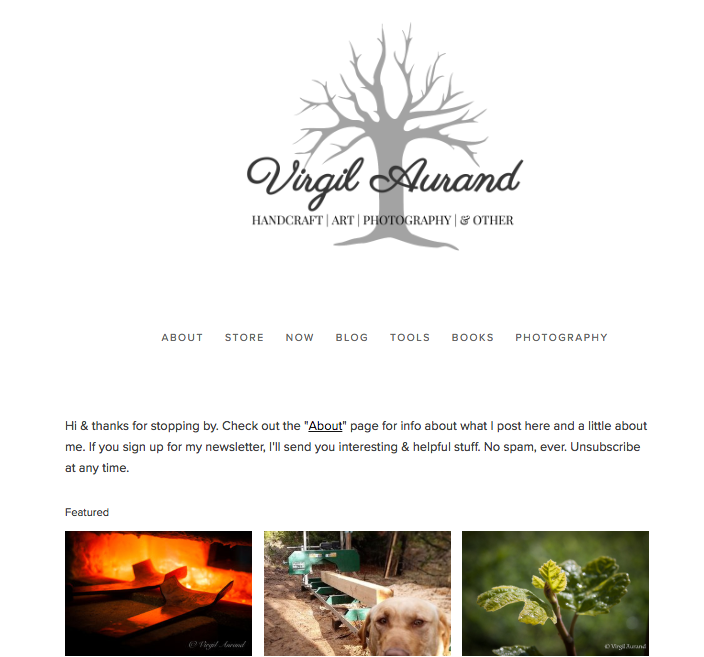Virgil Aurand - Photography & writing. www.virgilaurand.com