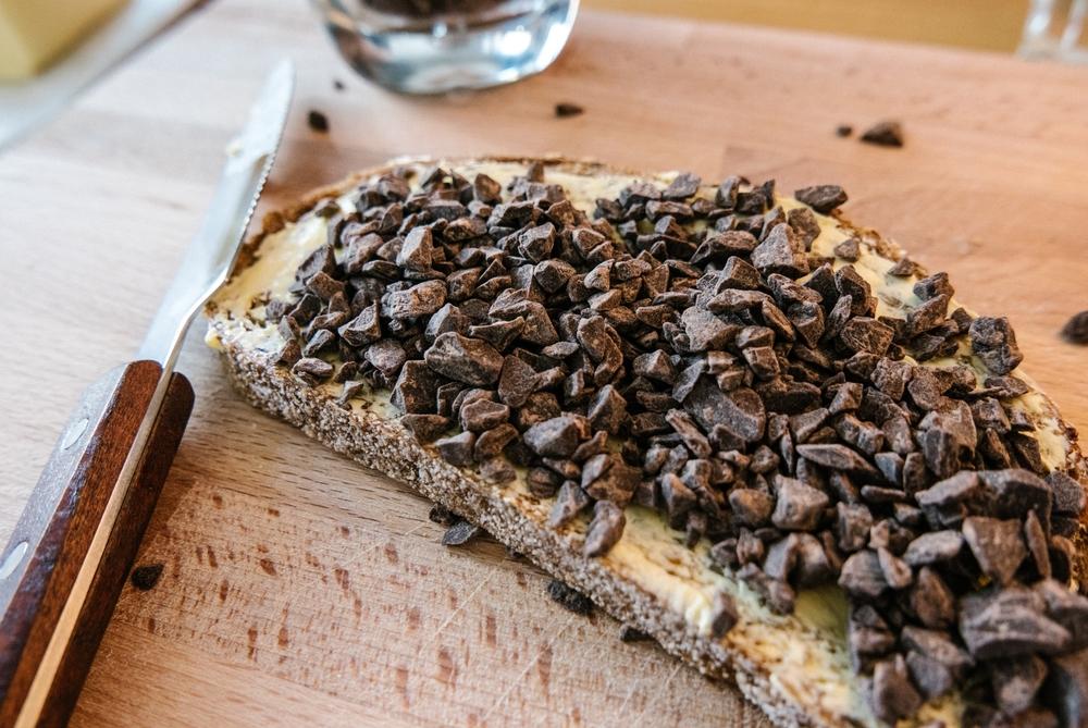 Hagelswag premium chocolate on bread