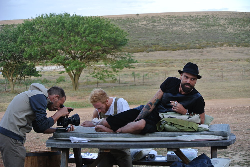 Brett getting tattooed by Ninjabreadboy in Swellendam.JPG