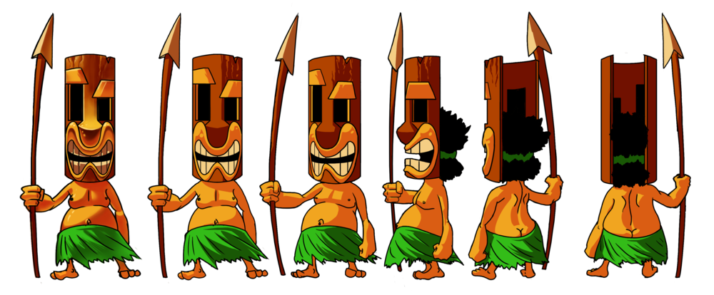 """Tiki Man"" Character Turnaround"