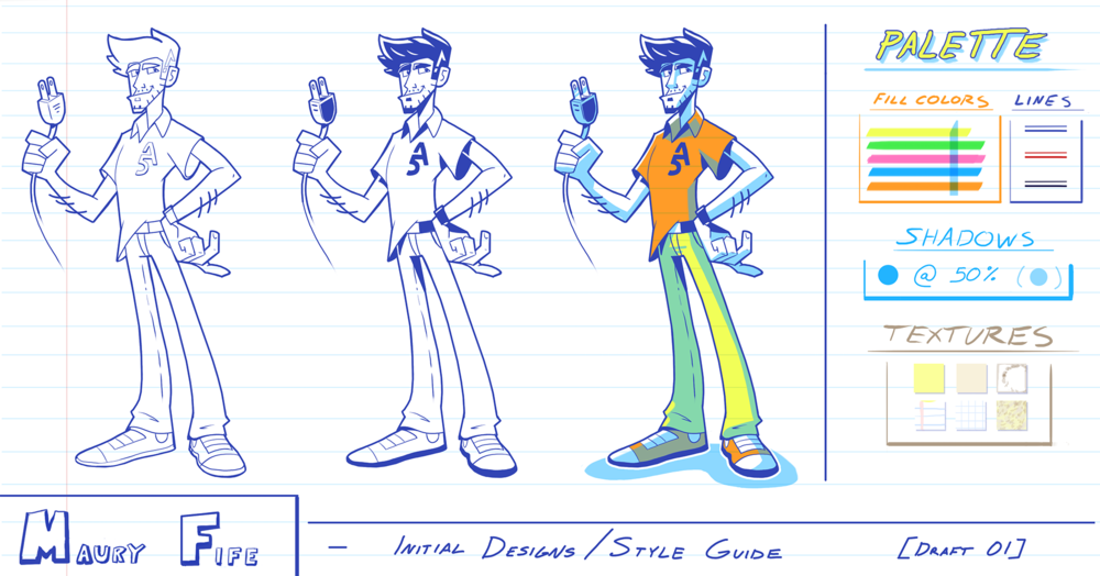 """Maury Fife"" Character Design"