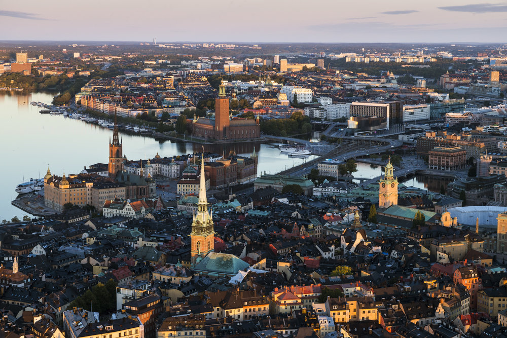 The islands of Gamla Stan and Riddarholmen                             Photo credit: Henrik Trygg