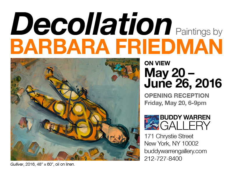 """""""Decollation"""" A Solo Show by Barbara Friedman"""