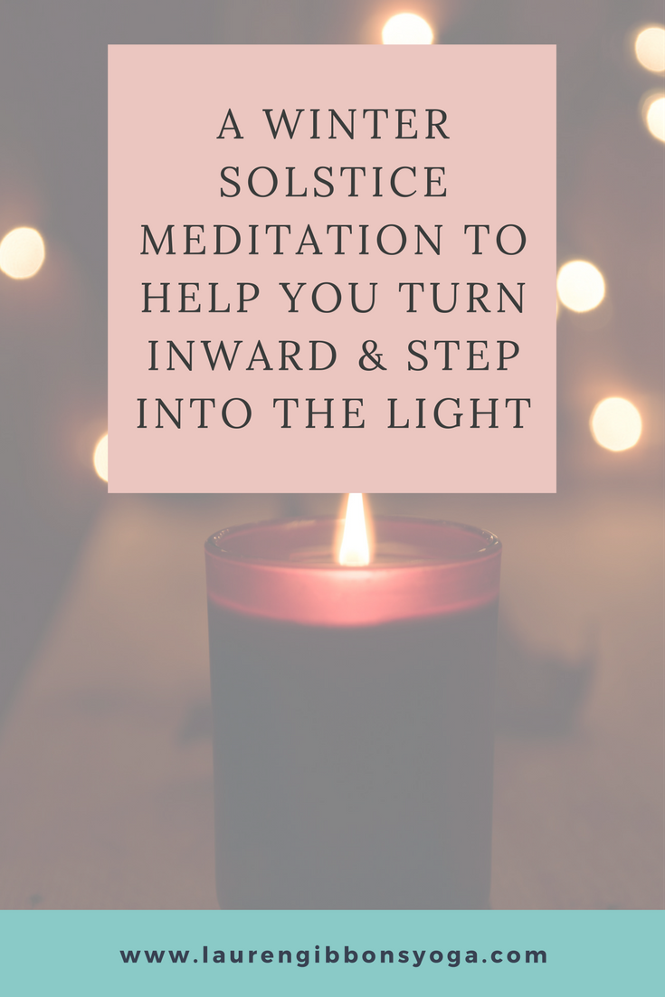 Short meditation and journaling practice for the Winter Solstice
