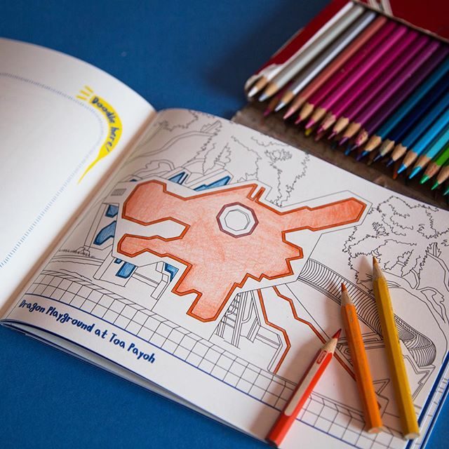Colour on the go with our Explore Singapore colouring book and journal! Explore Singapore's playgrounds as you flip those pages! 🙈