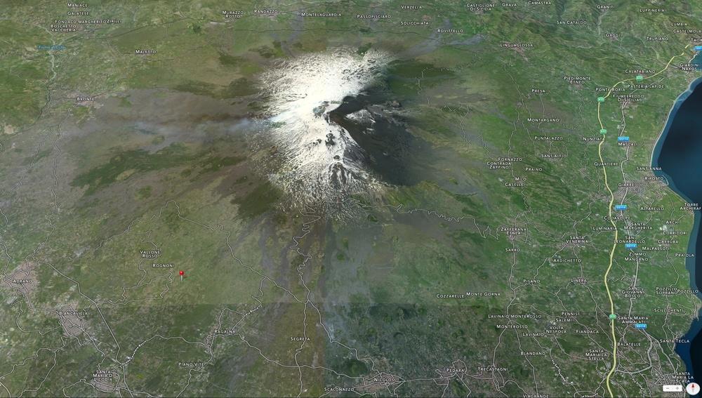 L'Etna visto da Sud