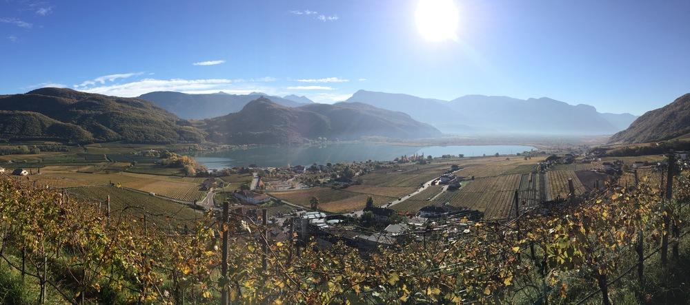 Il Kalterersee o Lago di Caldaro nella magnifica luce autunnale