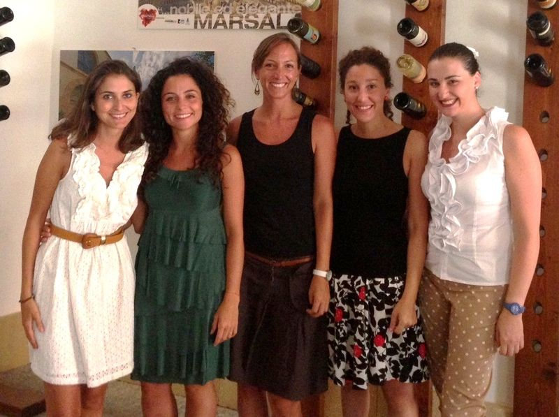 Da sinistra: Gipi De Bartoli, Laura Doro, Alexandra Curatolo, Sarah Vesco e Maria Chiara Bellina