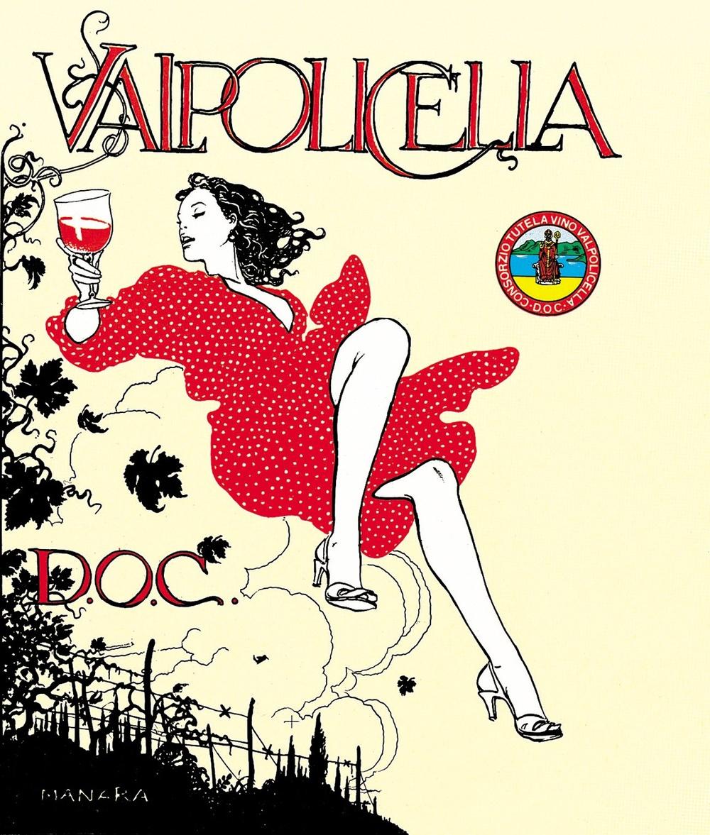 Valpolicella, il manifesto di Milo Manara