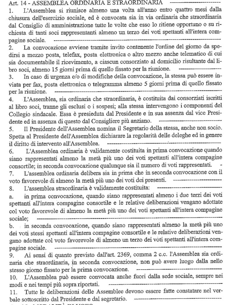 Un estratto dello Statuto del Consorzio Tutela della Valpolicella