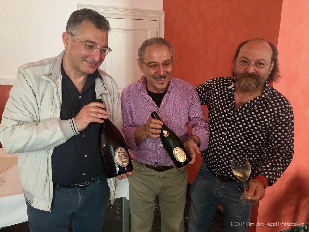 Da sinistra: Girolamo D'Amico, Ulrico Priore e Louis Rapini, i tre soci fondatori