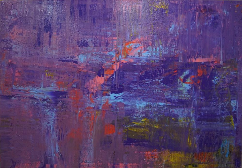 """Purple Horizon  48"""" x 66"""",oil on canvas,2016"""
