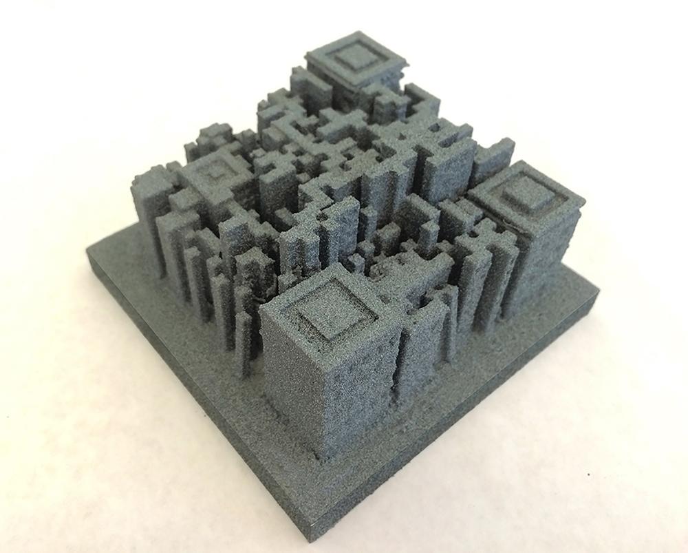 """QR City  7.5"""" x 7.5"""" x 5"""", 3D print, 2015"""