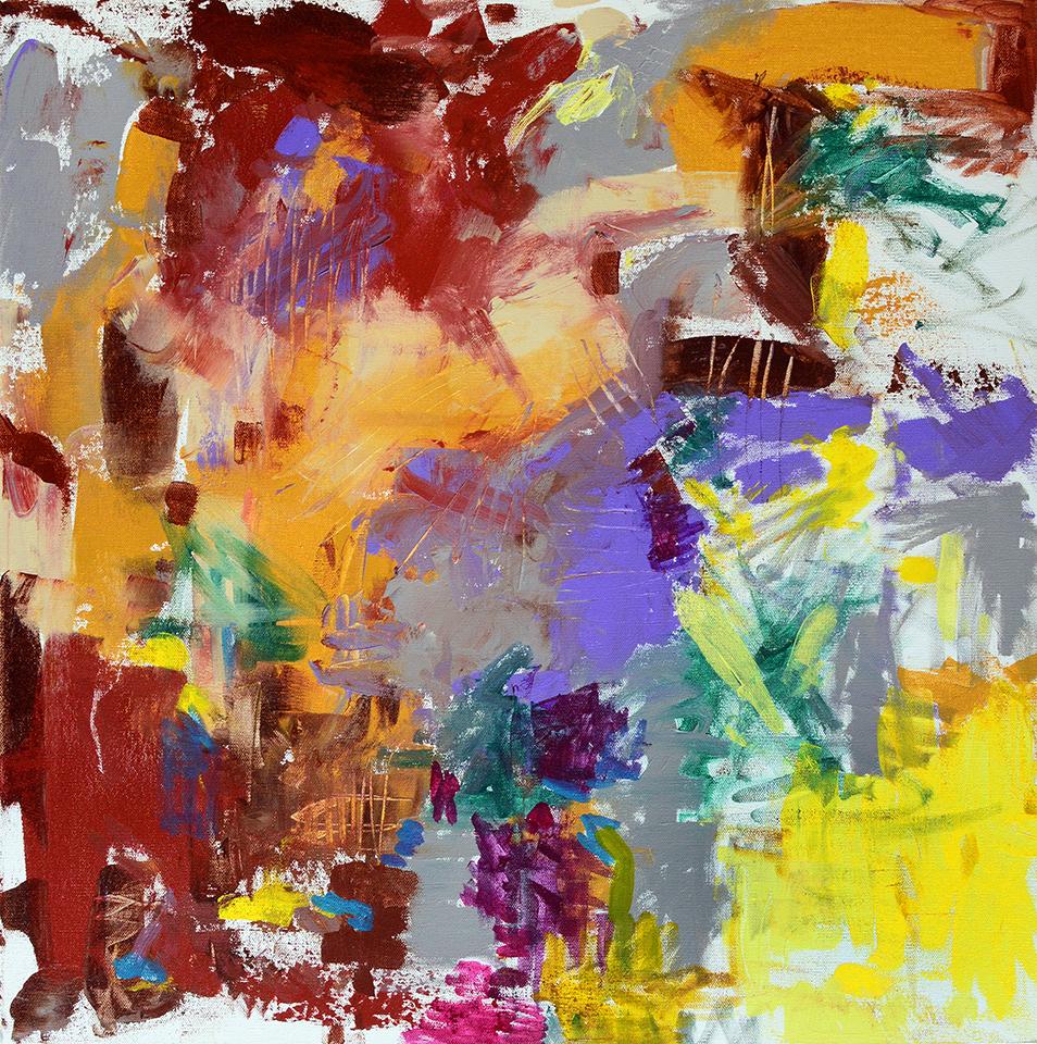 "Make a Splash  24"" x 24"", acrylic on canvas,2016"