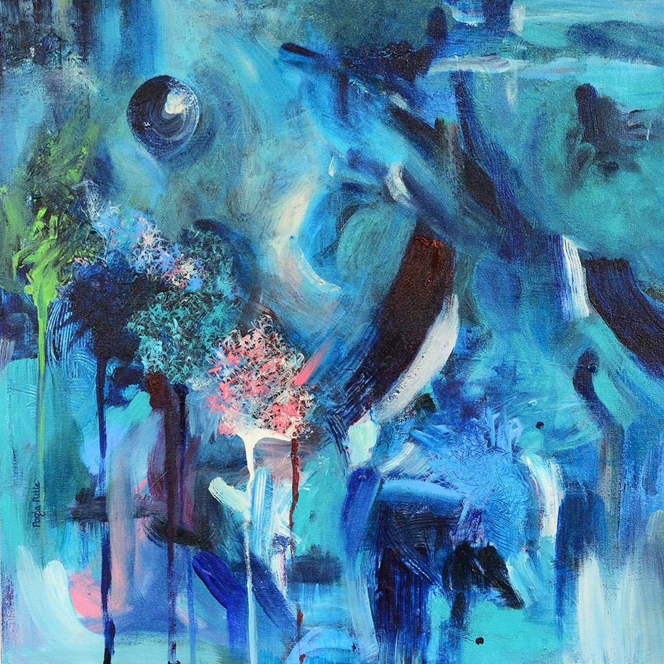 "I Dream of Dancing  24"" x 24"", acrylic on canvas,2016"