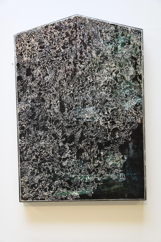 Dremel piece  acrylic and dremel, 2015