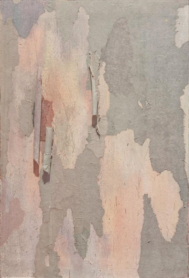 """Tree Bark 6  28"""" x 20"""", mixed media on rice paper,2013"""