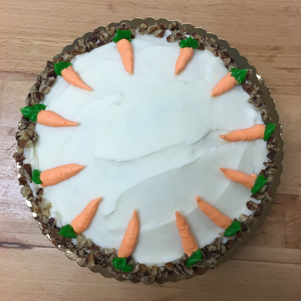 Carrots, pecans and cream cheese icing make this carrot cake our personal favorite.