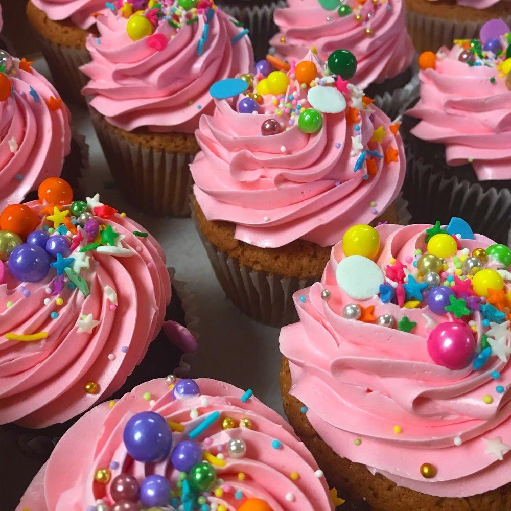 Bubblegum Pink Cupcakes