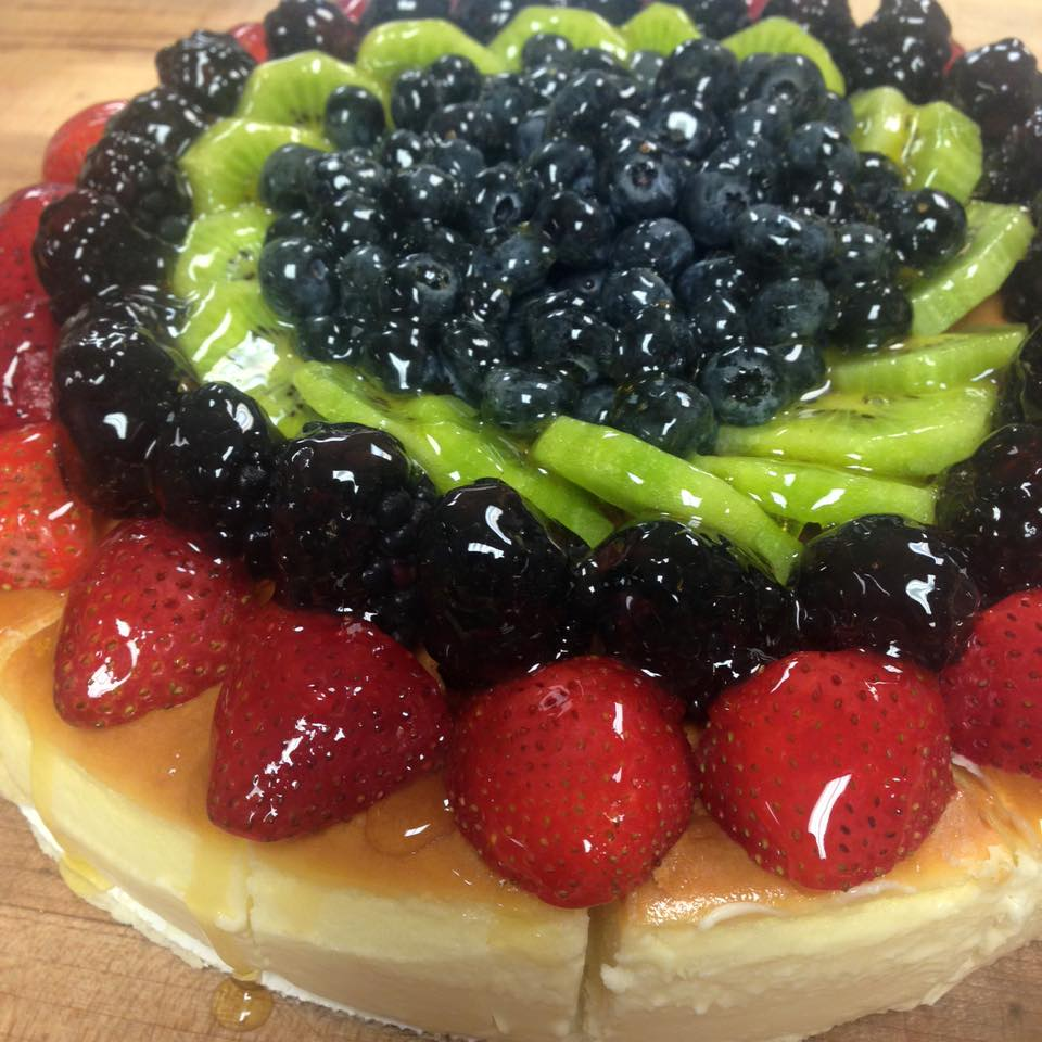 Fresh fruit topped cheescake