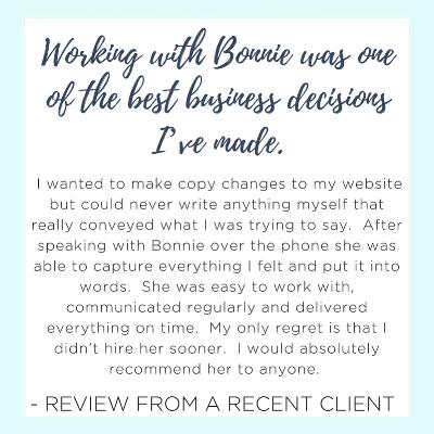 copywriter for creative business | bonniebryantcreative