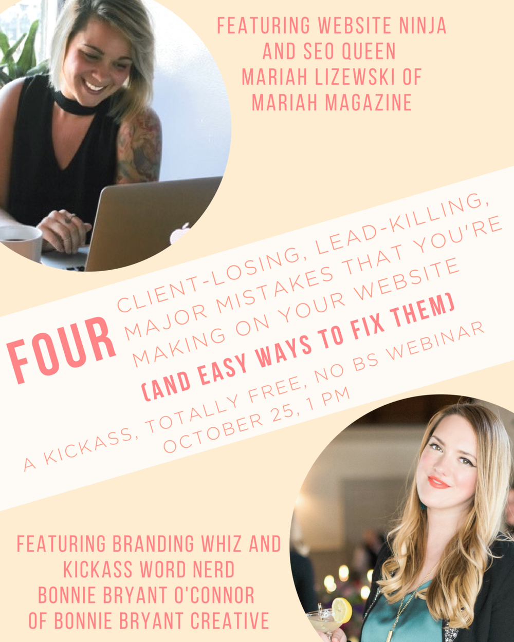 free webinar - four client losing lead killing major mistakes you're making on your website