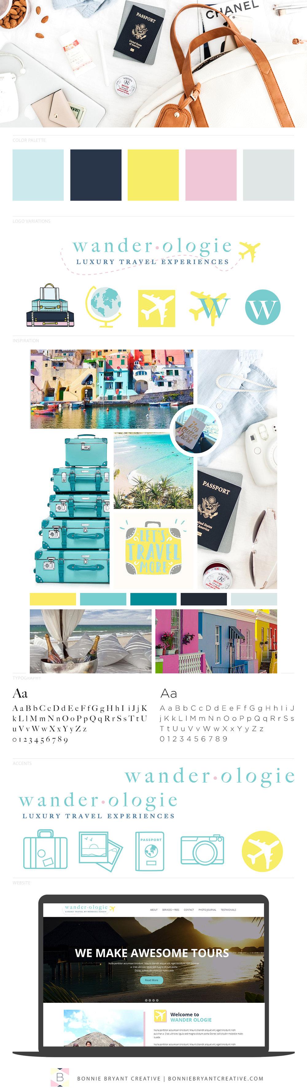 brand design for luxury travel agency | travel agency brand design | travel blogger brand design