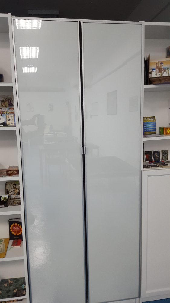 MORLIDEN aluminium door for the BILLY, $80 each.